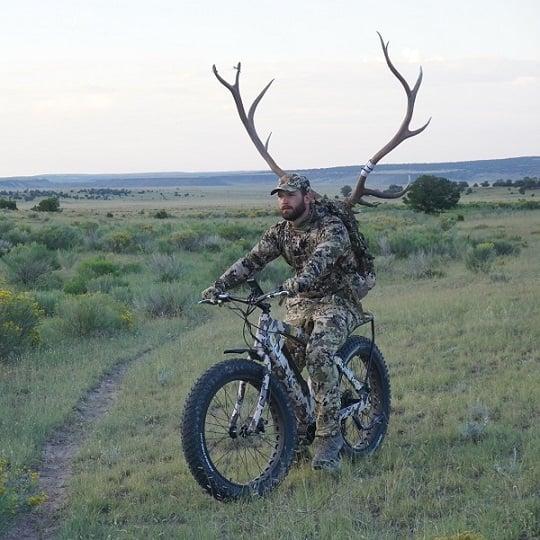electric hunting bike with deer antlers