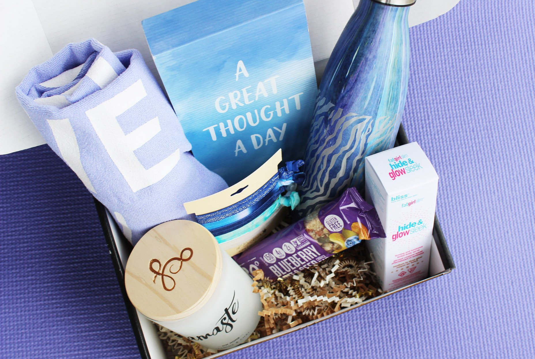 The Om Babes subscription box is a monthly yoga subscription that delivers 4-6 yoga tools, personal development and beauty products to your door for $39.95!
