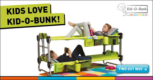 Kid-O-Bunk Ultimate mobile sleeping solution for kids