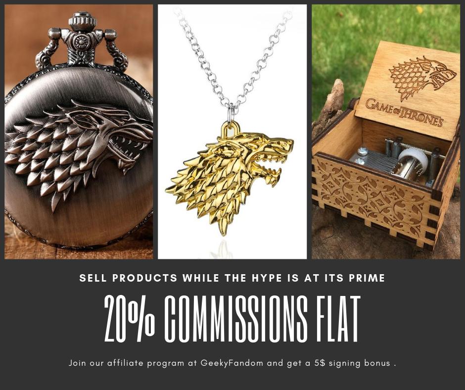 GeekyFandom | 20% Commissions