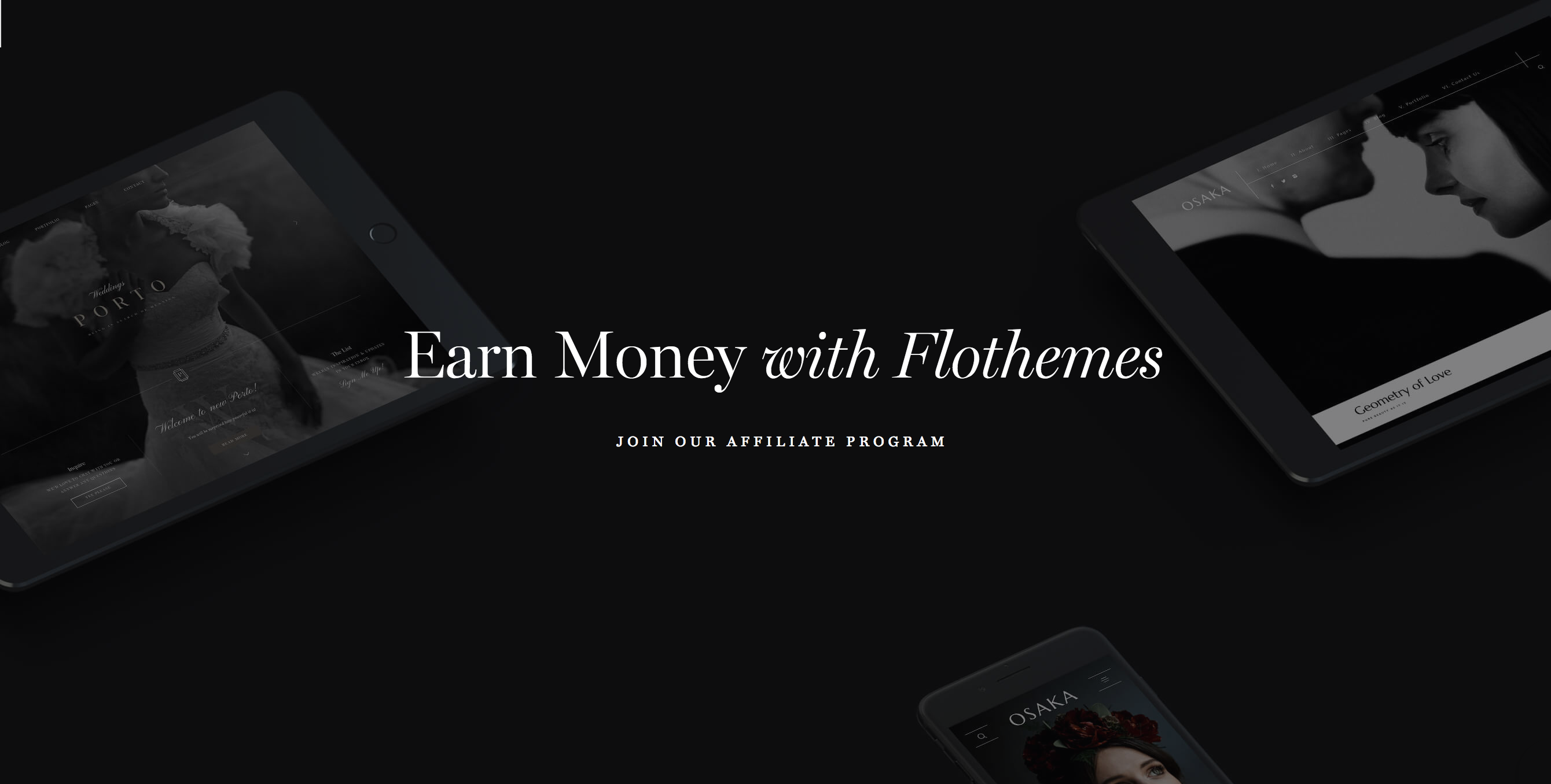 Flothemes - earn money by promoting unique websites for photographers